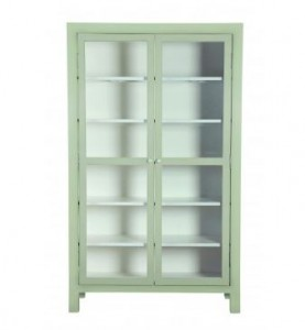 Mall vitrineskab grøn